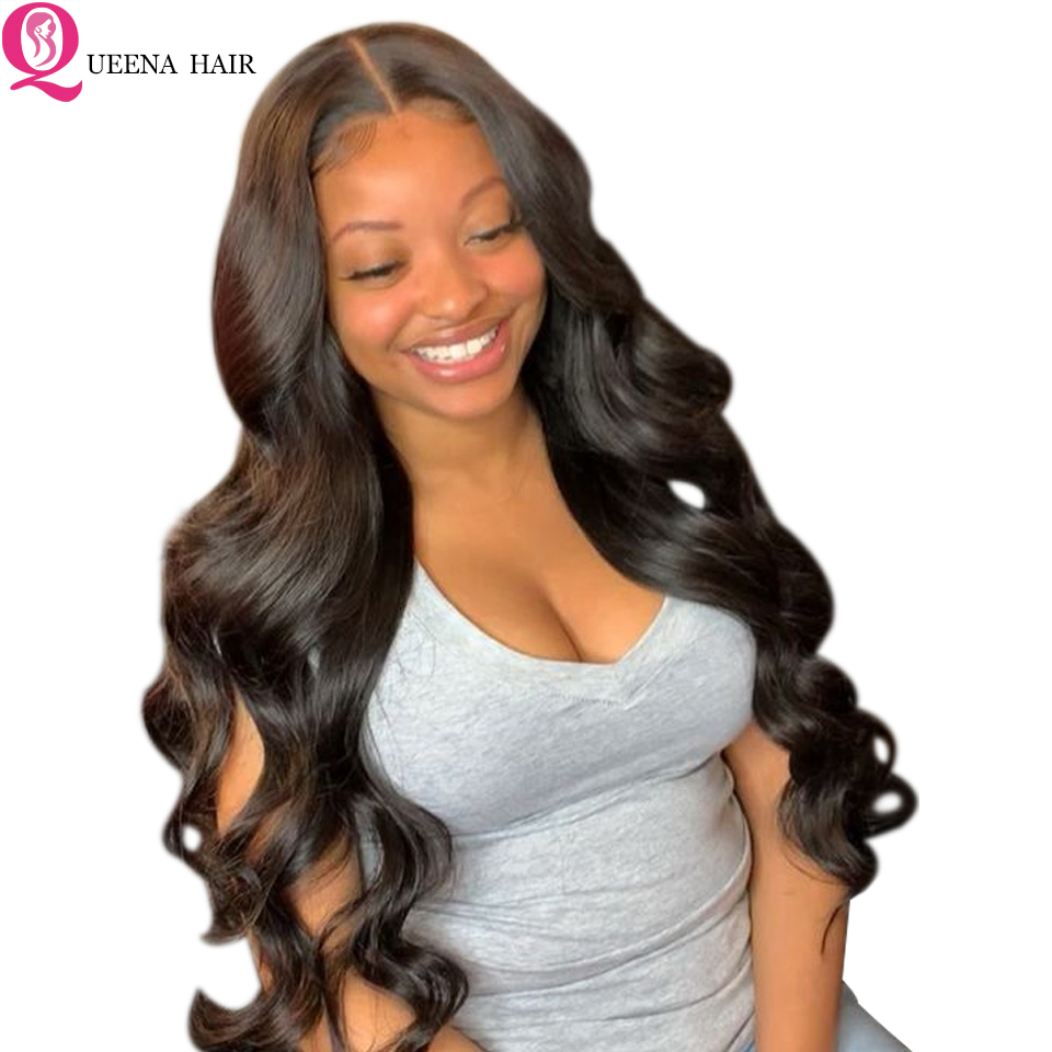 Transparent Front Lace Wig Body Wave Lace Front Human Hair Wigs Pre Plucked With Baby Hair Remy Indian Hair Bleached Knots Wigs
