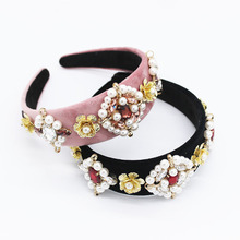 Baroque Headband Designer Jewelry Fashion Wedding Hair Accessories Pearl Headbands Metal Star Ornament Hairband Fall