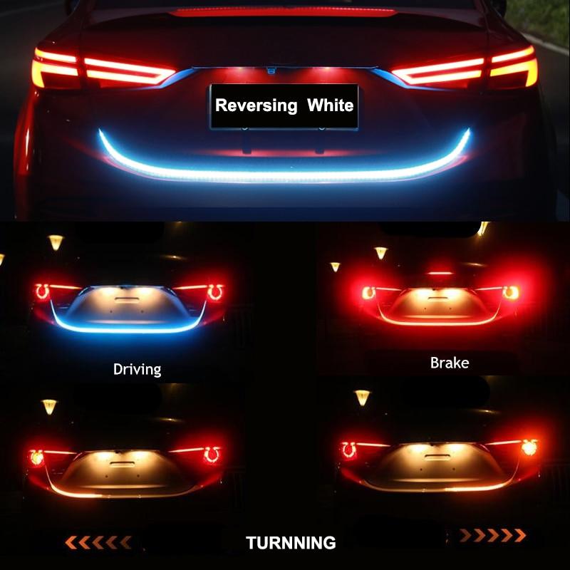 Car Rear Trunk Tail Dynamic Reverse Warning Light Brake Turn Signal Light For Citroen C4 C5 C3 C8 Berlingo Saxo Xsara Picasso