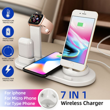 10W Magic Qi Wireless Charger Wire Charging Station Fast Dock For Smart Mobile Phone Iphone Huawei Samsung Airpods 1pcs