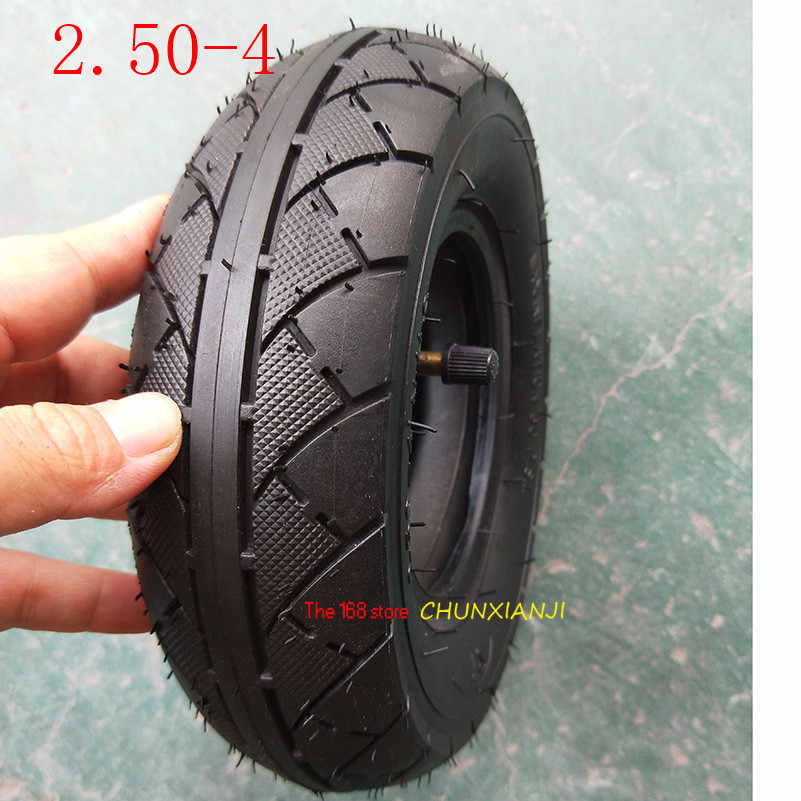 Size 2.50-4 Tire Inner Tube 60/100-4 Tyre Out Tire for Gas & Electric Scooter Bike Metal Valve TR87 Scooter Wheelchair Wheel