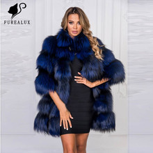 Women Winter Luxury Coat New Whole Skin Natural Real Fox Fur Coats Thick Warm High Quality Handmade Clothing Customized