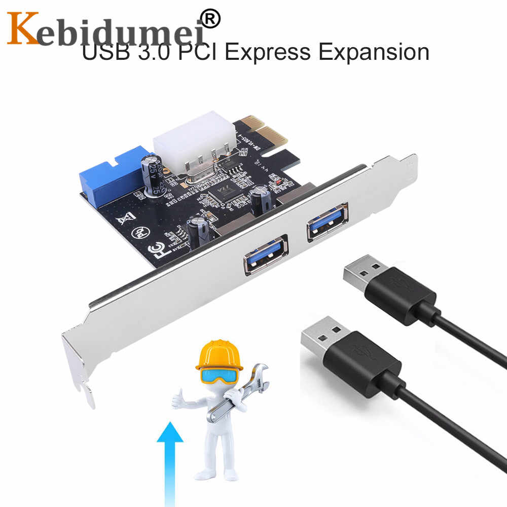 2-port USB 3.0 PCI-e karta rozszerzeń PCI express PCIe USB 3.0 piasta 2-port USB 3 0 PCI e PCIe express 1x