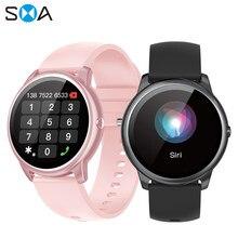 Sma r7 relógio inteligente feminino à prova dwaterproof água de fitness 2021 bluetooth chamada masculino relógio smartwatch mi para xiaomi android huawei