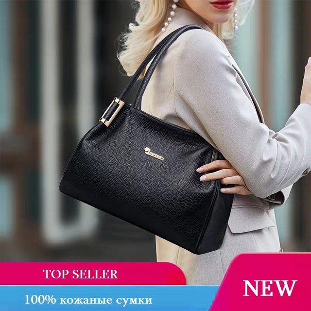 ZOOLER real genuine leather handbags for women Hand Bags Female Vintage Soft Cow Leather Ladies Solid Tote Bags Black#WG220