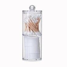 Акриловый круглый контейнер косметический макияж хлопок многофункциональная накладка Органайзер, хранение бижутерии коробка держатель ватные подушечки коробка для хранения