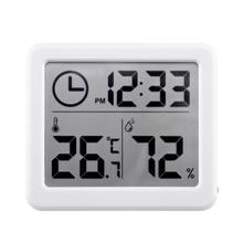 Многофункциональный автоматический электронный монитор температуры и влажности Часы 3,2 дюймовый большой ЖК-экран
