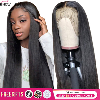 Ishow Straight Human Hair Wigs Pre Plucked 13x6 Straight Lace Front Wig Brazilian Hair Wigs Closure Wig 360 Lace Frontal Wig