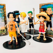One Piece Ruffy Sabo Ace Sanji Zoro Kindheit Ver. PVC Action Figure OP Kid Netter Sammeln Modell Spielzeug 12cm(China)