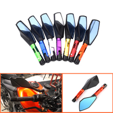 CNC Rearview Mirrors For Universal Motorcycle with 8/10mm screws For Kawasaki Z900 Z900RS Z800 Z1000 For YAMAHA MT07 MT09 MT-07 недорого