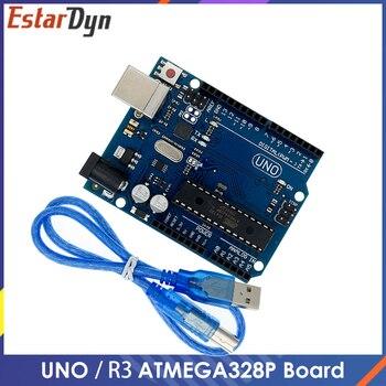 UNO R3 ATMEGA328P ATMEGA16U2 płytka rozwojowa z kablem USB zestaw startowy Diy