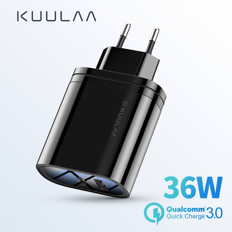 KUULAA Quick Charge 4.0 3.0 PD 3.0 36w USB Charger Fast Charger US EU Plug <font><b>Adapter</b></font> <font><b>Supercharger</b></font> For iPhone Xiaomi Mi <font><b>Huawei</b></font> image