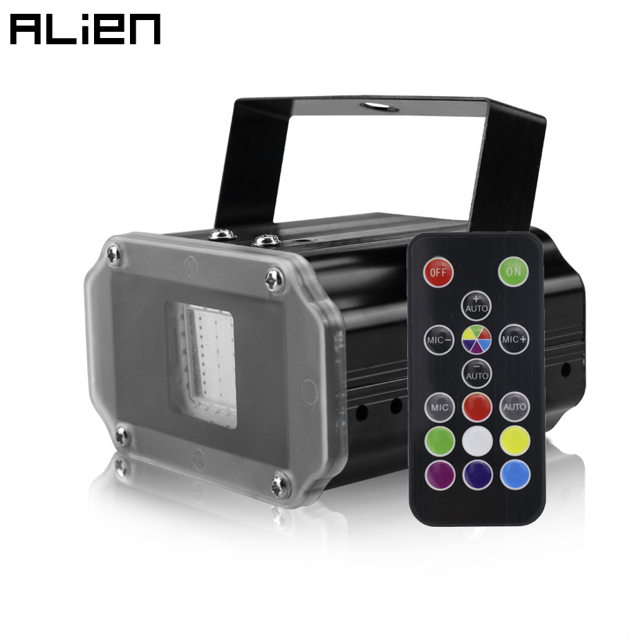 ALIEN Remote 20W COB LED RGB White Disco DJ Strobe Light Party Holiday Christmas Dance Club Sound Flash Stage Lighting Effect