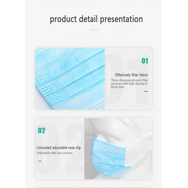 1Pcs Disposable Mask PM2.5 Anti-dust Anti-flu Face Mask Safety Mouth Mask For Individually Packag 3