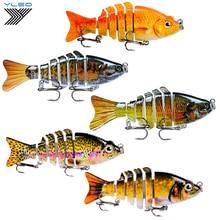 цена на YLEO Fishing 1PC Swim bait Fishing bait 6-7 Sections Fishing Lure 9-10cm/11-15.5g 6# Good Quality Hook Fishing Tackle