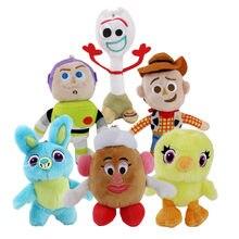 12-16cm 6 estilos juguete llavero de peluche muñecas Woody Buzz Lightyear pato kawaii colgantes de peluche de felpa Juguetes