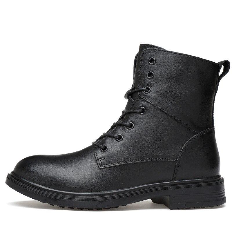 Grande taille hommes bottes chaudes haut-haut hommes bottes militaires Super qualité hiver hommes en cuir véritable bottes bois chaussures de terre 356