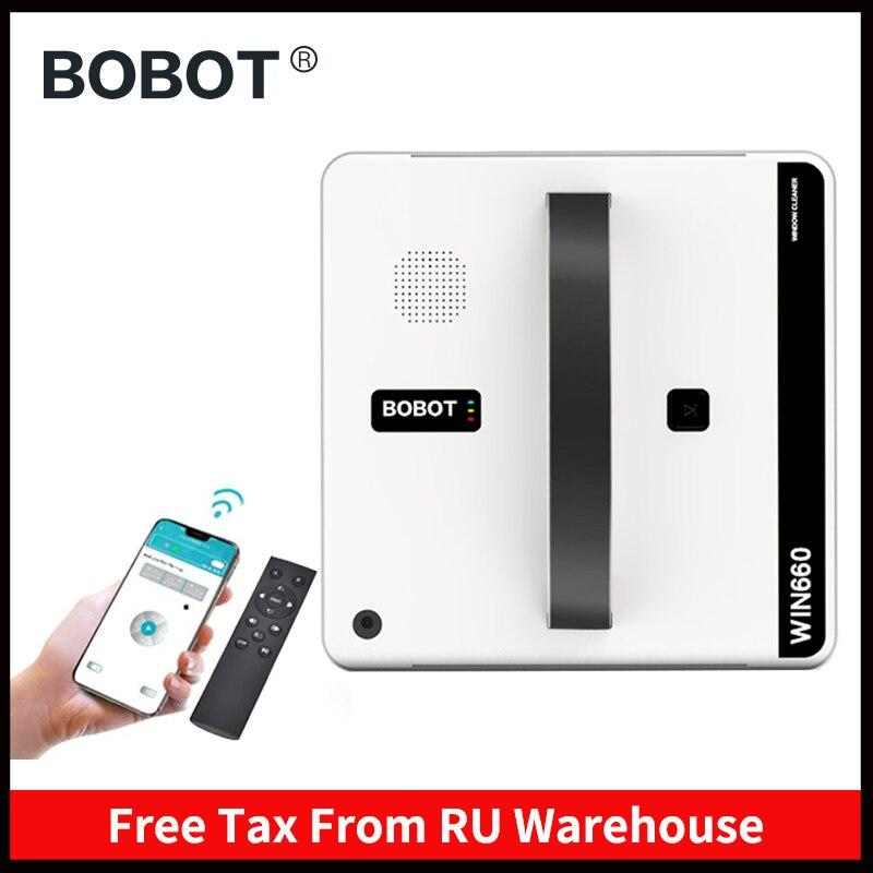 BOBOT Robot nettoyage des vitres Robot nettoyage des vitres App télécommande nettoyer les Surfaces vitrées encadrées miroirs fenêtres et portes