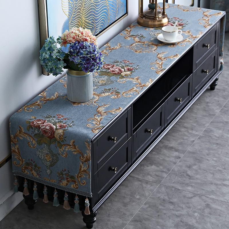 Proud Rose European TV Cabinet Cover Cloth Tassel Tablecloth Table Runner Household TV Ark Dustproof Cover Dresser