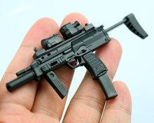 1/6 MP7 полупистолет двойная форма пластиковая Сборная модель огнестрельного оружия пазл для 1/6 солдат военное оружие