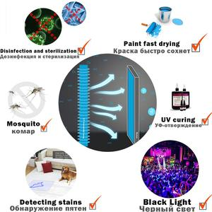 Image 4 - SKD DOB LED UV Black Light Board 365nm 280nm Sterilization Party Paint Fluorescent Poster Curing Halloween Ultraviolet Lamp