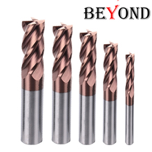 BEYOND Lowest Dicount End Mill HRC60 4 Flute 1mm 6mm 8mm 10mm Milling Cutter Tools Alloy CNC 4 Edge Carbide Router Bit Endmills 4 blade inch milling cutter carbide end mill router bit hss 1 16 1 4 inch milling tools set cnc mill tools 6pcs