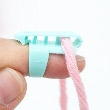 4pcs/set Finger Splitter Sweater Wool Knitting Tool 4 Yarn Guide Thimble Sewing