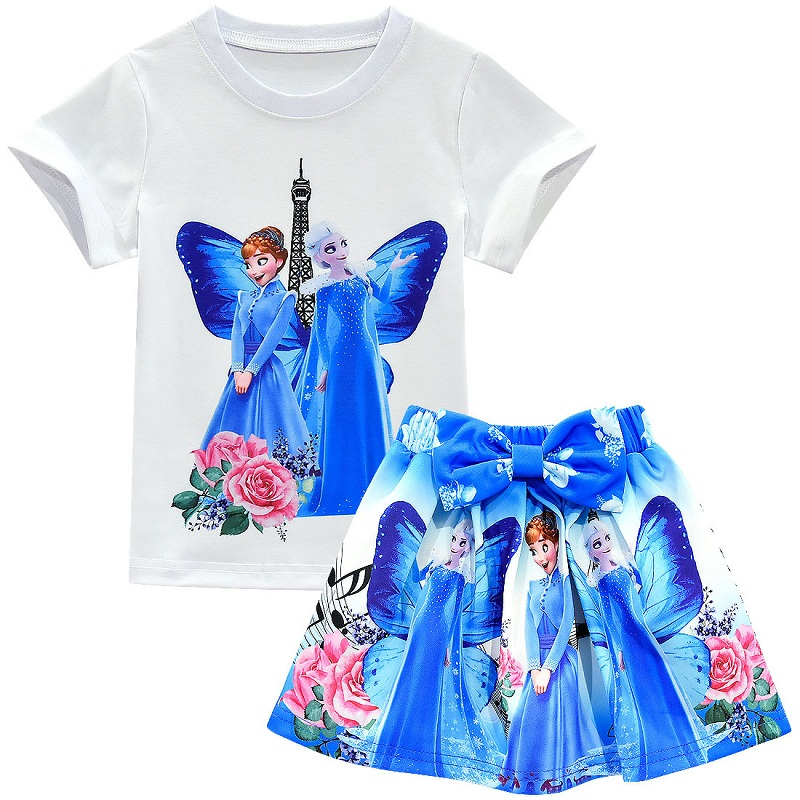 Disney Vampirina Toddler Girls Short Sleeve T-Shirt /& Skirt Clothing Set