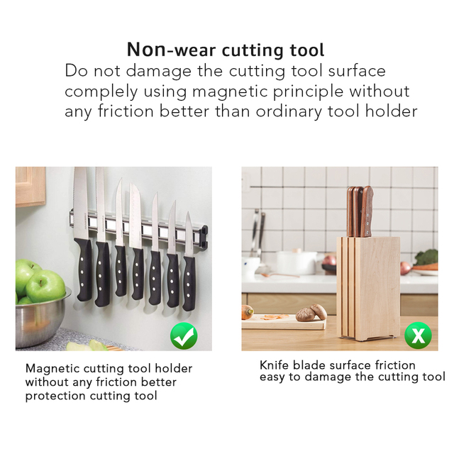 Magnetic Knife Holder Wall Mounted 5