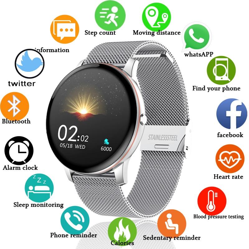 LIGE 2021 New Color All Screen Smart Watch Women Men Multifunctional Sport Heart Rate Blood Pressure IP67 Waterproof Smartwatch