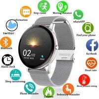 LIGE 2021 Neue Farbe Alle Bildschirm Smart Uhr Frauen Männer Multifunktionale Sport Herzfrequenz Blutdruck IP67 Wasserdichte Smartwatch