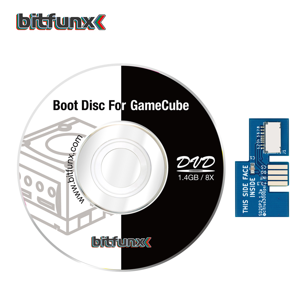 Bitfunx SD2SP2 Adapter TF Card Reader Replacement   Swiss Boot Disc Mini DVD for Nintendo Gamecube  NGC NTSC