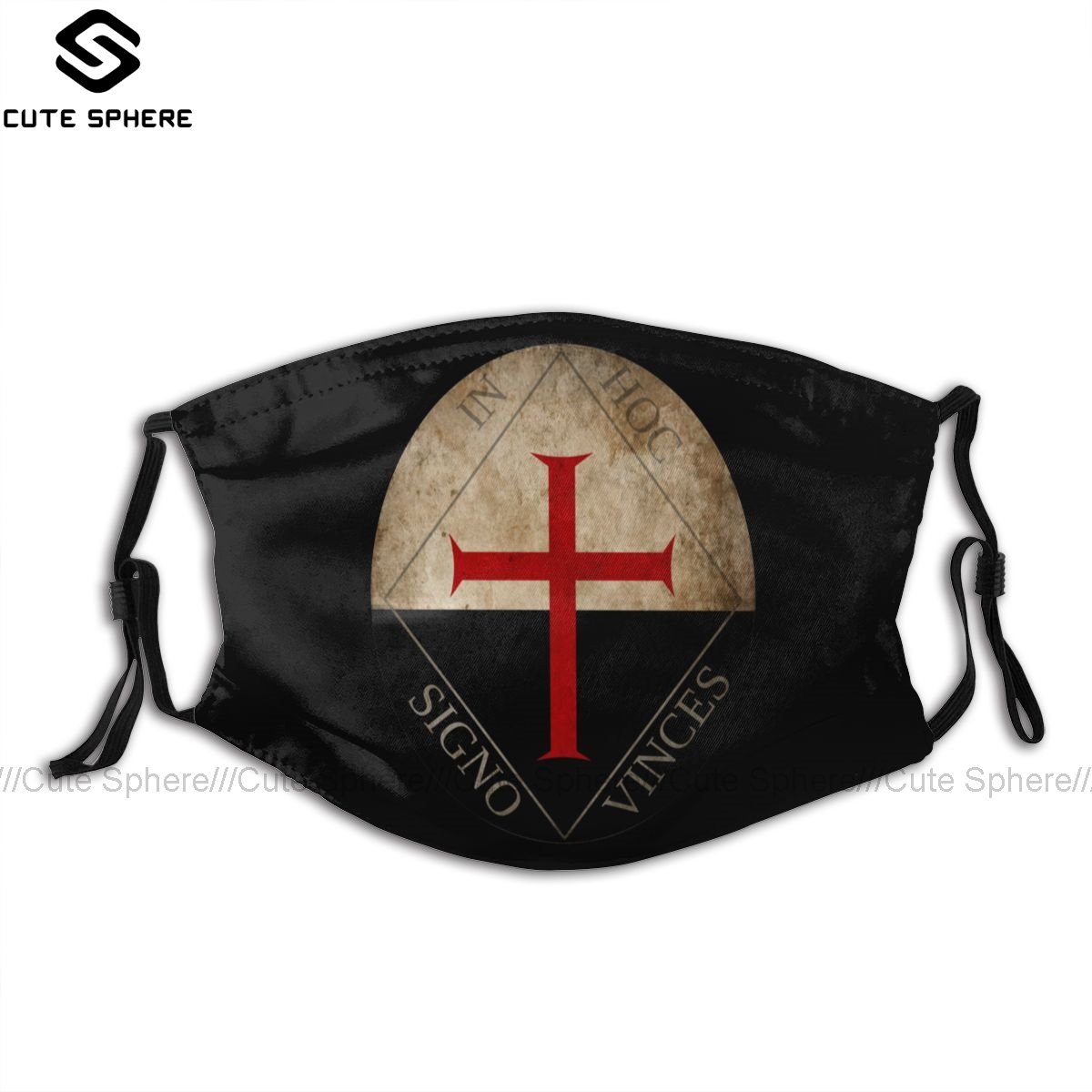 Knights Templar Mouth Face Mask Knights Templar In Hoc Signo Vinces Facial Mask Funny Kawai With 2 Filters For Adult