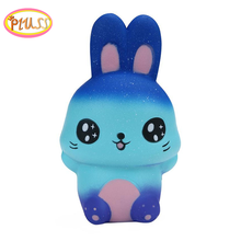 Antistress Squishy Animales Rabbit Galaxy Simulated Animal Doll Slow Rising Bread Scented Squeeze Toy Stress Relief Fun for Kid цена и фото