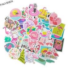 50 PCS PVC Beautiful Famingo Cute Sticker Children Creative Decal DIY Laptop Suitcase Bicycle Luggage Guitar Stickers