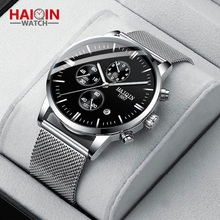 HAIQIN Mens Watches Luxury Quartz Wrist Watch for Men Stainl