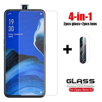 Перейти на Алиэкспресс и купить 4-в-1 стекло на Рено 2Z закаленное стекло для Oppo Reno2 Z 2Z 2F Ace 2 камера защитная пленка для экрана HD телефона стекло для Рено 2Z