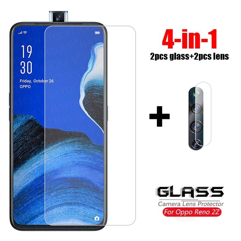 4-in-1 Glass On Reno 2Z Tempered Glass For Oppo Reno2 Z 2Z 2F Ace 2 Camera Lens Screen Protector HD Phone Film Glass For Reno 2Z