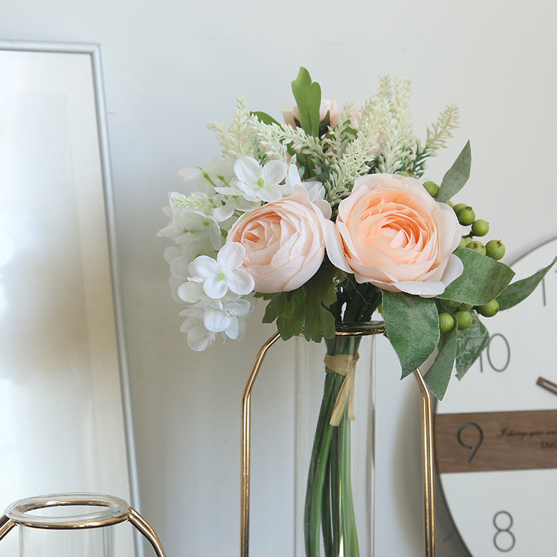 Kyunovia Fashion Wedding Centerpiece Artificial Flowers berry lavender Peony DIY Bridal  Bridesmaid Bouquet Wedding Decor BY31