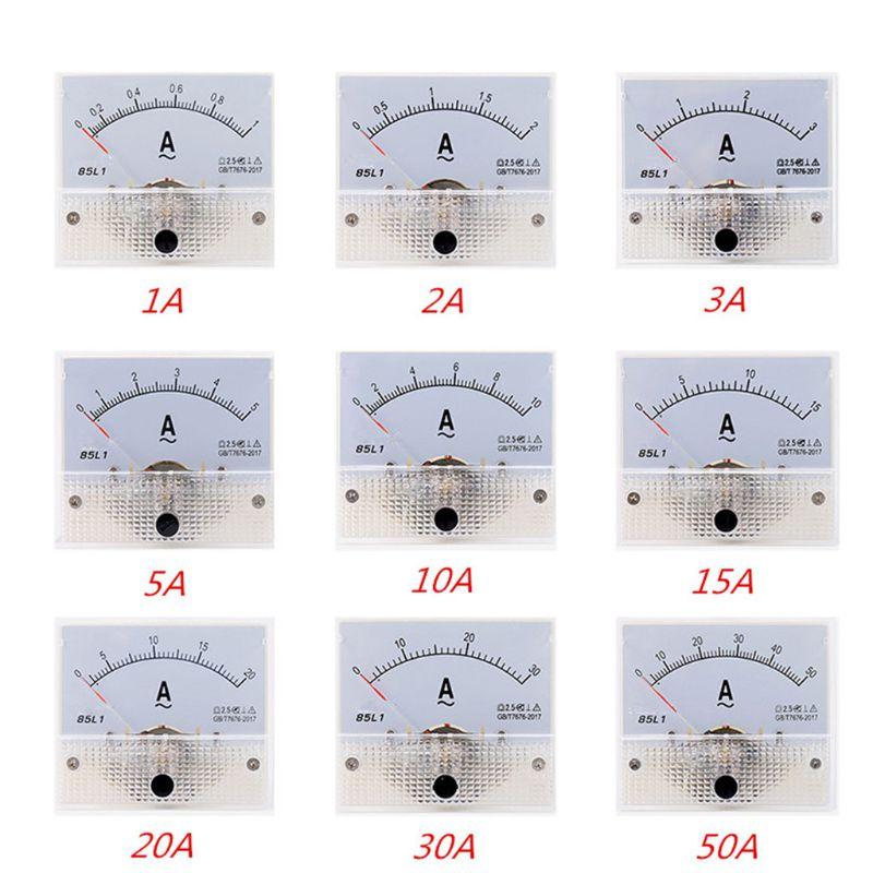 1pc 85L1 AC Panel Meter Analog Panel Ammeter Dial Current Gauge Pointer Ammeter
