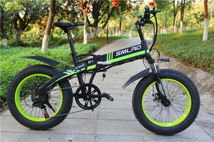 S9F 20inch folding fat electric bike 48v 350w Fat Tire Folding E-Bike For adults 5