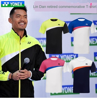 Nowy YONEX YY badminton jednolita męska i damska szybkoschnąca koszulka yy Lin Dan emerytura pamiątkowe niestandardowe 9042 tanie i dobre opinie CN (pochodzenie)