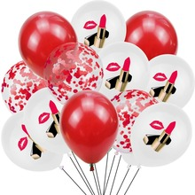 Confetti Ballon Lipstick Wedding-Decor Valentine's-Day-Party-Decorations Birthday Adult
