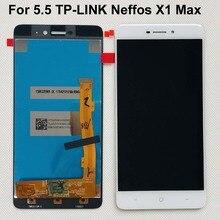 100% תצוגה מקורית עבור 5.5 TP LINK Neffos X1 מקס TP903A TP903C LCD מסך מגע Digitizer עצרת חלקי תיקון טלפון נייד