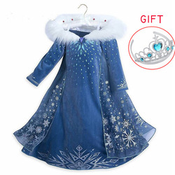 Frozen 2 Elsa Dress girls Party Vestidos Cosplay New Year Clothes Anna Snow Queen Birthday Princess Dress Kids Carnival Costume