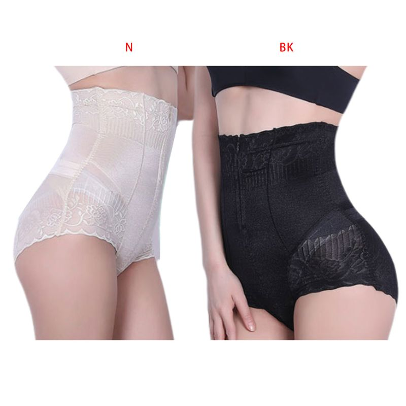 Tinffy Women Lace Floral High Waist Butt Lifter Slimmer Body Shaper Panty Control Panties