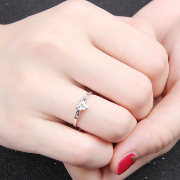 Genuine Heart Shaped Diamond Ring  4