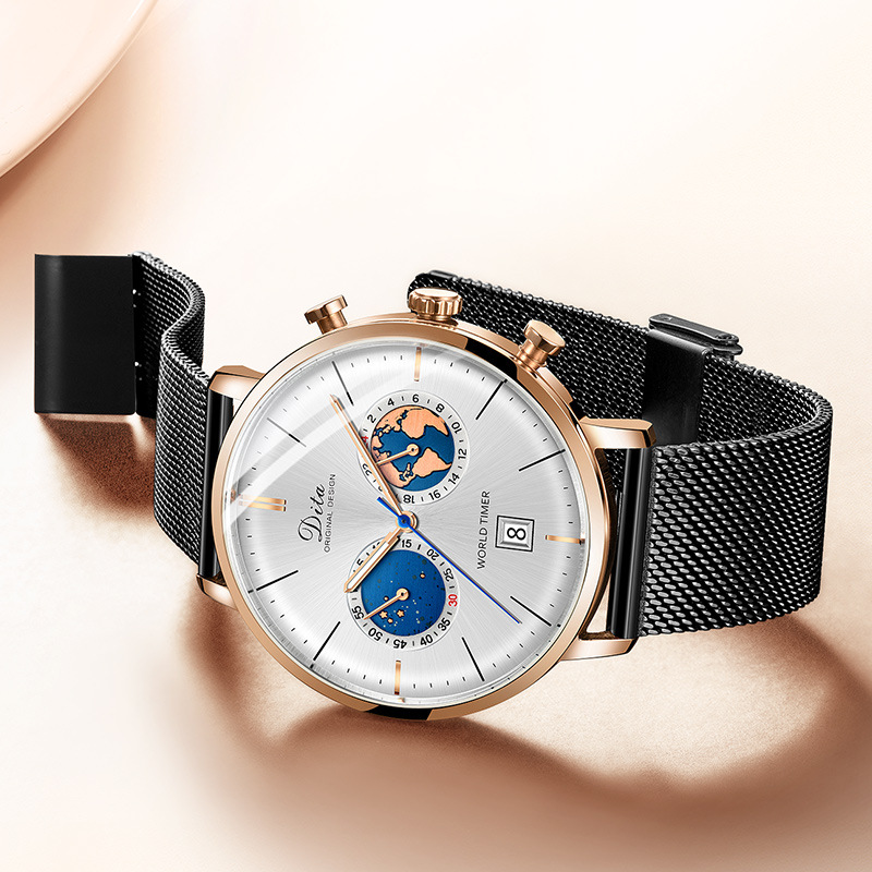 Dita 시계 남자 쿼츠 시계 패션 방수 손목 시계 사용 가능한 스트랩 크로노 그래프 스톱워치 럭셔리 톱 브랜드 시계 reloj