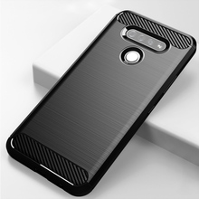 Shockproof Carbon Fiber Case For LG K51 Q51 Case Silicon Anti-Knock Cover For LG Stylo 6 Cover Fundas Coque недорого