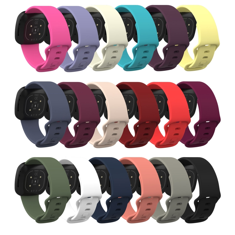 Universal Replacement Silicone Wrist Sport Strap Watch Band for -Fitbit Versa 3 Sense Bracelet Smart Watch Accessory